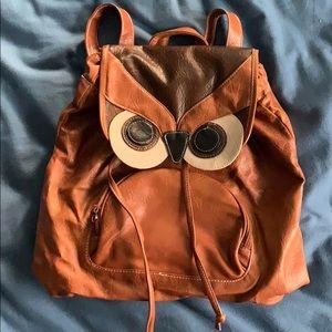Handbags - Leather owl bookbag